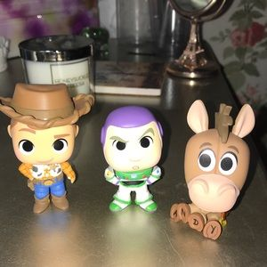Woody, Bullseye + Buzz Mini Mystery Funko POP
